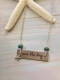 graduation gift jewelry sted bar necklace seas the day inspirational jewelry