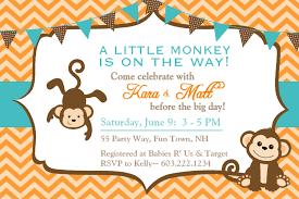 baby shower invitations monkey afoodaffair me