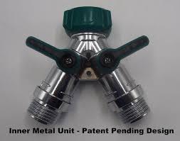 kitchen faucet splitter 2wayz garden hose splitter full metal body y ball valve hose