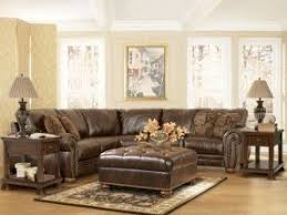 fabric and leather sofa leather and fabric sectional sofas foter