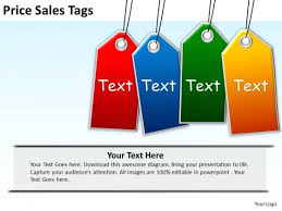 business sale powerpoint templates business price sales tags ppt