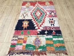 east unique vintage moroccan rug tapis berbere boucherouite