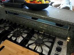 Gas Cooktop With Downdraft Vent Custom Granite Kitchen Stove Downdraft Youtube