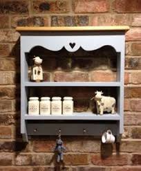 shabby chic farmhouse bookcase shelves shelf wall unit handpainted