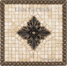 metal mural athena mosaic tile trends also kitchen backsplash