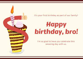 red and brown cake brother in law birthday card templates by canva