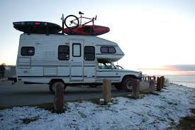 survival truck living in a van down by the river alaskan winter is here off
