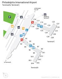 philadelphia international airport map phl airport map phl terminal map