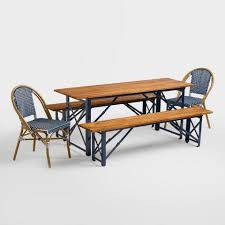 German Beer Garden Table by Dark Navy Kaliko Bistro Chairs Set Of 2 World Market