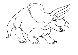 tyrannosaurus and triceratops coloring page free printable 19570