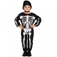 Skeleton Halloween Costume Kids Boys Girls Childrens Kids Horror Halloween Party Fancy Dress