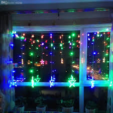 Curtain Fairy Lights by Cheap Wholesale Fashion Five Pointed Star Multi Color Led Curtain