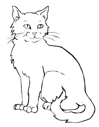 coloring page of a kitty cat coloring pages cats and kitten coloring pages hello kitty