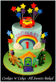 wiggles cake 1st birthday cake dorothy the dinosaur henry the