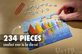 Jigsaw Puzzles Tables The World U0027s Smallest Jigsaw Puzzle 234 Die Cut Pieces
