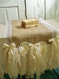 shabby chic table runner the 19 best images about caminos de mesa on pinterest burlap table