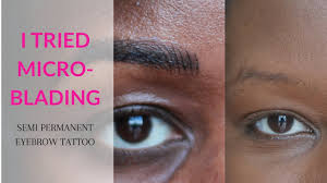 Hair Stroke Eyebrow Tattoo Nyc Microblading Review On Dark Skin Black Woman Of Color Youtube