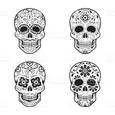 halloween candy background drawn day of the dead skulls stock vector art 490426162 istock