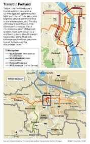 Portland Streetcar Map by Portland Light Rail U0027s Mixed Track Record