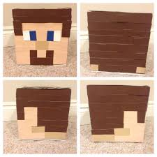 minecraft steve valentine box minecraft steve pinterest box