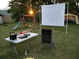 Diy Pvc Patio Furniture - outdoor projector screen on a budget 6 steps with pictures