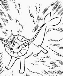 pokemon vaporeon coloring pages kids coloring
