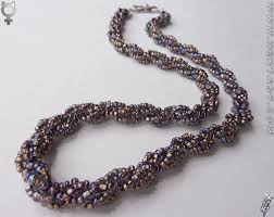 bead rope necklace images Elegance spiral rope beaded czech glass seed bead necklace jpg