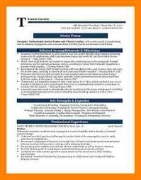 Youth Pastor Resume Template 100 Pastor Resume Templates How Do I Get A Resume Template On