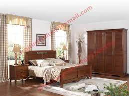 english country style solid wood bed in wooden bedroom furniture sets