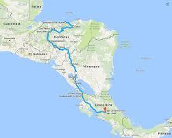 Map Of Roatan Honduras Roatan To Costa Rica By Scooter Adventure Rider