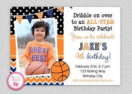 basketball birthday invitation boys sports birthday party