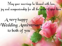 wedding wishes and blessings happy wedding anniversary wishes to both with blessings and