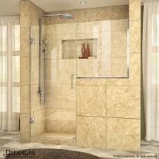 30 Shower Door Unidoor Plus 57 60 1 2 Hinged Shower Door 30 In Buttress Panel