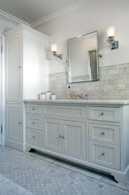 wonderful bathroom with beadboard 59 white bathroom vanity with