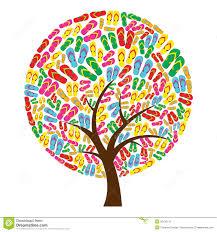 flip flops in tree shape stock photo image 25130710