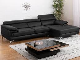 canapé d angle cuir noir canapé d angle cuir volupto noir angle droit prix promo canapé