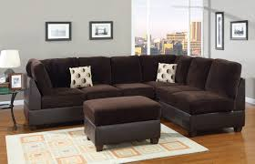 Black Fabric Sectional Sofas Modern Living Room Decor With Bemerkenswert Suede Sectional Sofas