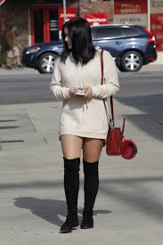 laid back luxe ariel winter u0027s hoodie dress and suede boot look