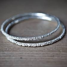 silver beaded bangle bracelet images Fine silver beaded bangle by alice robson jewellery jpg