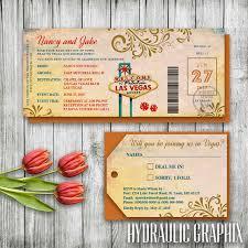 wedding invitation set las vegas wedding invitation ticket las vegas invitation set