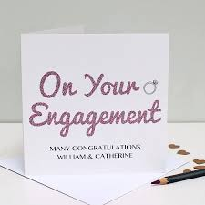 engagement greeting card engagement congratulations greeting card martha brook