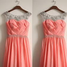 coral berwarna bridesmaid dresses beli murah coral berwarna
