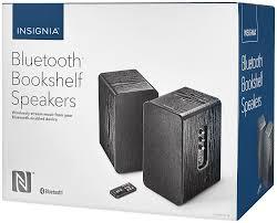 Bookshelf Powered Speakers Insignia Powered Bookshelf Speakers Pair Black Ns Hbtss116