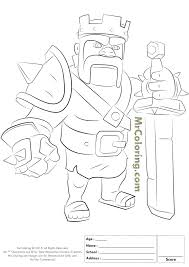 13 clash clans coloring pages images free