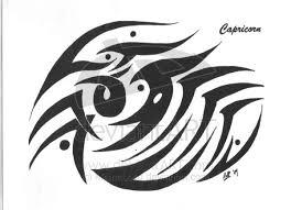 tribal capricorn goat tattoo design photo 2 real photo
