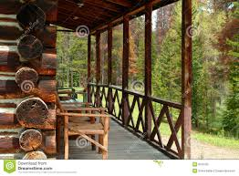 log cabin porch stock photo image 9763720