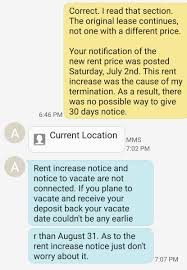 Notice Of Termination Of Notice Of Commencement by Terminated Month To Month Landlord Demanding Extra Month U0027s Rent