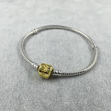 bracelet pandora gold images Gold bracelet pandora silver charms jpg