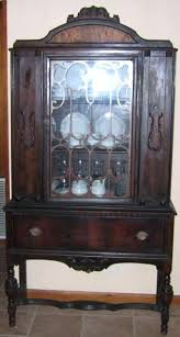 curved glass china cabinet antique china cabinets general antiques antique china cabinet