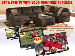 living room packages with free tv get a free tv with your furniture purchase luther appliance and